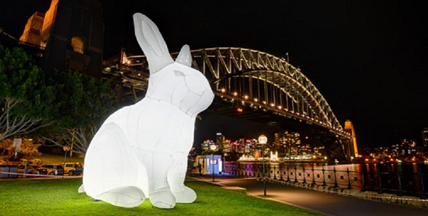 """What's The Best Light For A Giant Inflatable Rabbit?"""